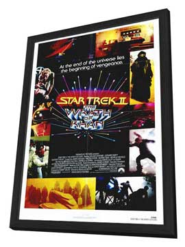 Star Trek 2: The Wrath of Khan - 27 x 40 Movie Poster - Style A - in Deluxe Wood Frame