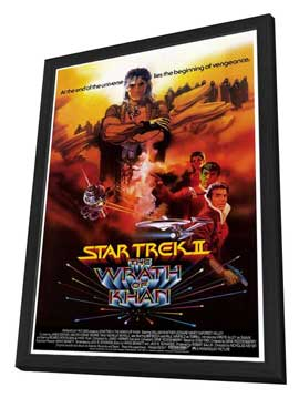 Star Trek 2: The Wrath of Khan - 27 x 40 Movie Poster - Style B - in Deluxe Wood Frame