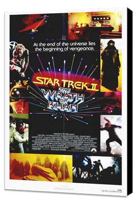 Star Trek 2: The Wrath of Khan - 27 x 40 Movie Poster - Style A - Museum Wrapped Canvas