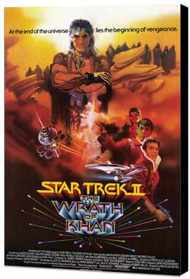 Star Trek 2: The Wrath of Khan - 27 x 40 Movie Poster - Style B - Museum Wrapped Canvas