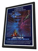 Star Trek 3: The Search for Spock - 27 x 40 Movie Poster - Style B - in Deluxe Wood Frame