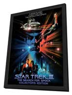 Star Trek 3: The Search for Spock - 27 x 40 Movie Poster - Style E - in Deluxe Wood Frame