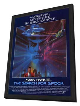 Star Trek 3: The Search for Spock - 11 x 17 Movie Poster - Style B - in Deluxe Wood Frame
