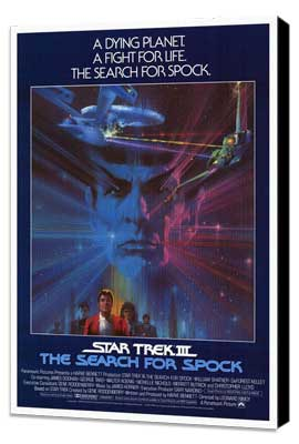 Star Trek 3: The Search for Spock - 27 x 40 Movie Poster - Style B - Museum Wrapped Canvas
