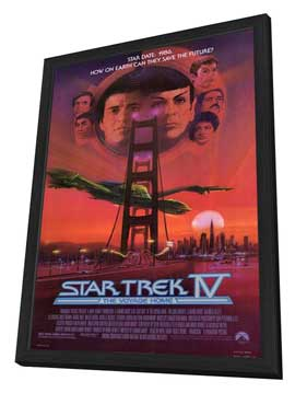 Star Trek 4: The Voyage Home - 11 x 17 Movie Poster - Style A - in Deluxe Wood Frame