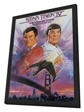 Star Trek 4: The Voyage Home - 27 x 40 Movie Poster - Style D - in Deluxe Wood Frame