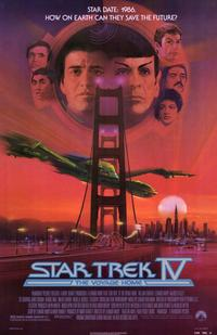 Star Trek 4: The Voyage Home - 11 x 17 Movie Poster - Style A - Museum Wrapped Canvas