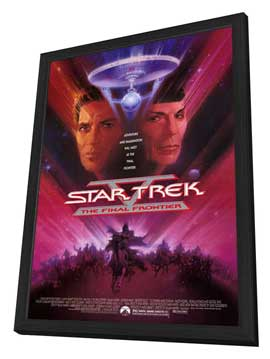 Star Trek 5: The Final Frontier - 11 x 17 Movie Poster - Style A - in Deluxe Wood Frame