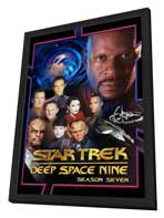 Star Trek: Deep Space Nine - 11 x 17 Movie Poster - Style I - in Deluxe Wood Frame