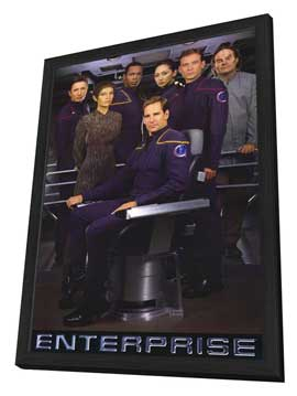 Star Trek: Enterprise - 11 x 17 TV Poster - Style A - in Deluxe Wood Frame
