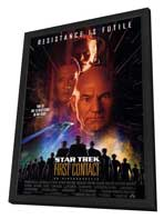 Star Trek: First Contact - 11 x 17 Movie Poster - Style A - in Deluxe Wood Frame