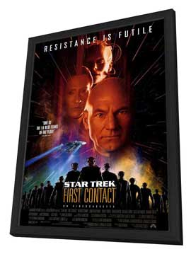 Star Trek: First Contact - 27 x 40 Movie Poster - Style A - in Deluxe Wood Frame