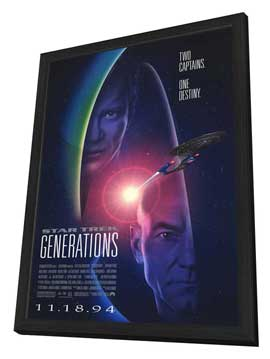 Star Trek: Generations - 11 x 17 Movie Poster - Style A - in Deluxe Wood Frame
