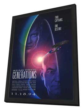 Star Trek: Generations - 27 x 40 Movie Poster - Style A - in Deluxe Wood Frame