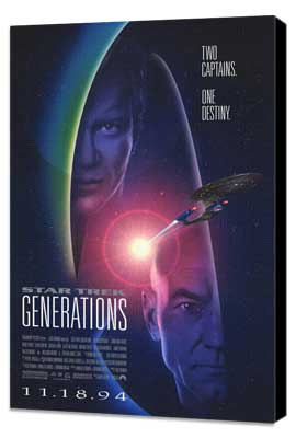 Star Trek: Generations - 27 x 40 Movie Poster - Style A - Museum Wrapped Canvas