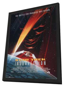 Star Trek: Insurrection - 27 x 40 Movie Poster - Style A - in Deluxe Wood Frame