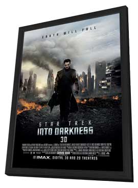 Star Trek Into Darkness - 27 x 40 Movie Poster - Style B - in Deluxe Wood Frame