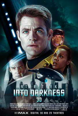 Star Trek Into Darkness - 27 x 40 Movie Poster - International Style A
