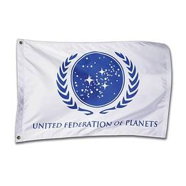 Star Trek - United Federation Of Planets White Flag