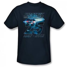 Star Trek - TNG 25th Anniversary Enterprise Navy T-Shirt