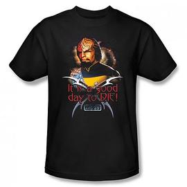 Star Trek - TNG Worf Good Day to Die Black T-Shirt