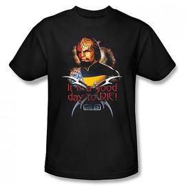 Star Trek - TNG Worf Good Day to Die Black T-Shirt