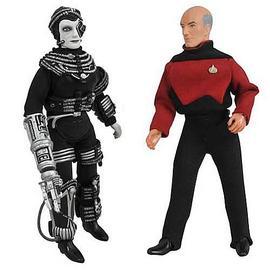 Star Trek - Retro Series 9 Picard and Borg Figure Set