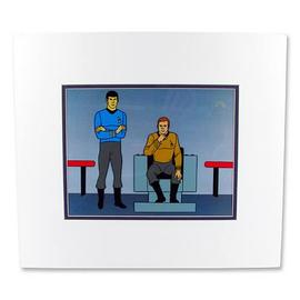 Star Trek - Filmation At The Helm Kirk and Spock Seri-Cel