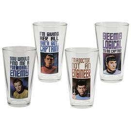 Star Trek - Original Series Glasses 4-Pack