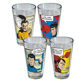 Star Trek - Comic Strip Pint Glass 4-Pack