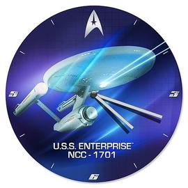 Star Trek - TOS USS Enterprise NCC-1701 Wood Wall Clock