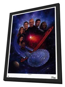 Star Trek: The Next Generation - 11 x 17 TV Poster - Style B - in Deluxe Wood Frame