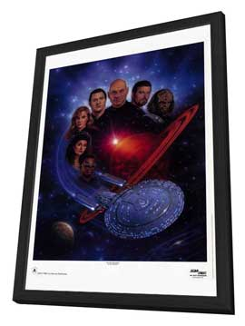 Star Trek: The Next Generation - 27 x 40 TV Poster - Style B - in Deluxe Wood Frame