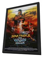 Star Trek: The Wrath of Khan - 27 x 40 Movie Poster - Style C - in Deluxe Wood Frame