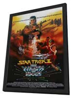 Star Trek: The Wrath of Khan - 11 x 17 Movie Poster - Style C - in Deluxe Wood Frame