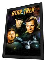 Star Trek (TV) - 11 x 17 TV Poster - Style K - in Deluxe Wood Frame