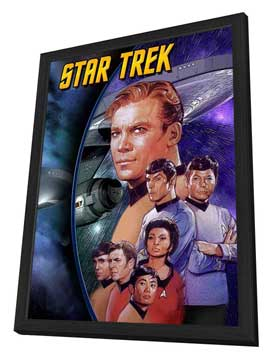 Star Trek (TV) - 11 x 17 TV Poster - Style G - in Deluxe Wood Frame