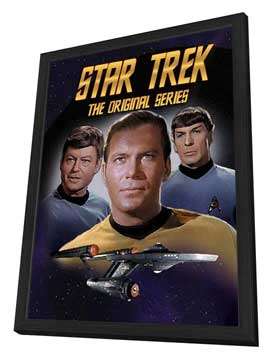 Star Trek (TV) - 27 x 40 TV Poster - Style J - in Deluxe Wood Frame