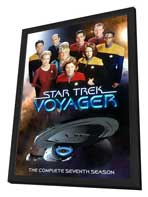 Star Trek: Voyager - 27 x 40 TV Poster - Style A - in Deluxe Wood Frame