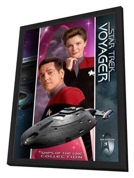Star Trek: Voyager - 11 x 17 TV Poster - Style T - in Deluxe Wood Frame