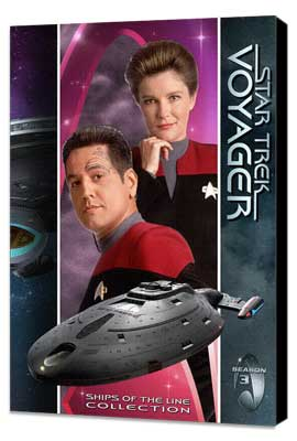Star Trek: Voyager - 11 x 17 TV Poster - Style T - Museum Wrapped Canvas