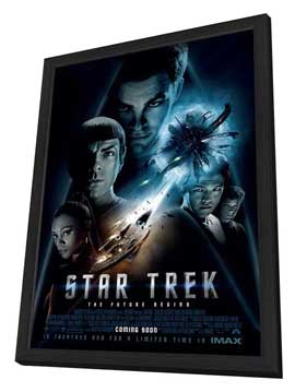 Star Trek XI - 11 x 17 Movie Poster - Style AB - in Deluxe Wood Frame