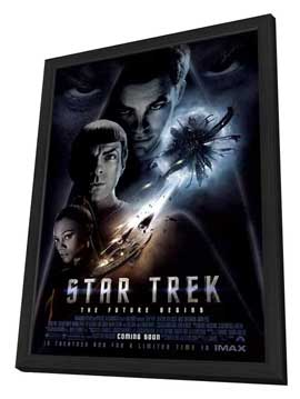 Star Trek XI - 11 x 17 Poster - Style AC - in Deluxe Wood Frame