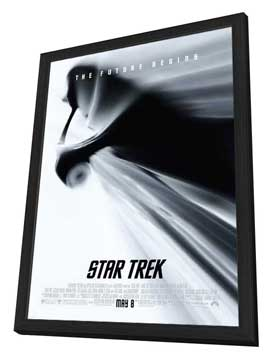 Star Trek XI - 27 x 40 Movie Poster - Style H - in Deluxe Wood Frame