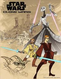Star Wars: Clone Wars - 43 x 62 Movie Poster - Bus Shelter Style A