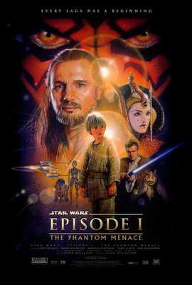Star Wars: Episode I-The Phantom Menace (3D) - 27 x 40 Movie Poster - Style A