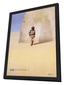 Star Wars: Episode I-The Phantom Menace (3D) - 27 x 40 Movie Poster - Style B - in Deluxe Wood Frame