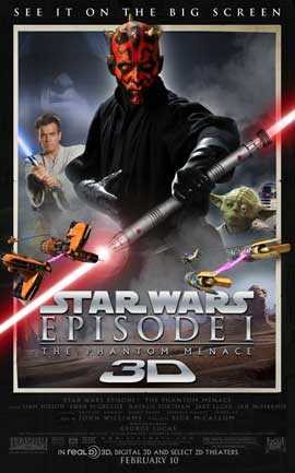 Star Wars: Episode I-The Phantom Menace (3D) - 27 x 40 Movie Poster - Style E