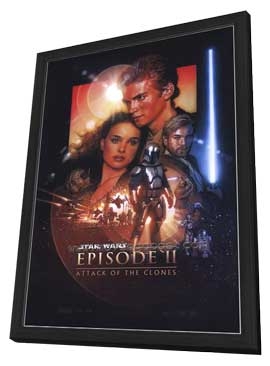 Star Wars: Episode II-Attack of the Clones - 27 x 40 Movie Poster - Style B - in Deluxe Wood Frame