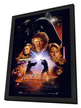 Star Wars: Episode III - Revenge of the Sith - 27 x 40 Movie Poster - Style A - in Deluxe Wood Frame